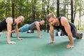 Men having calisthenics training Royalty Free Stock Photo