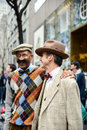 Men having fun posing easter parade easter bonnet festival new york city Royalty Free Stock Photos