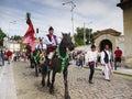 Men and Horses, Cultural Festival Prague Royalty Free Stock Photo