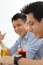 Men laughing Royalty Free Stock Photo