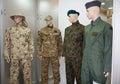 Men mannequins in uniform Royalty Free Stock Photo