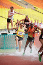 Men obstacle race at grand sports arena moscow jun of luzhniki oc during international athletics competitions iaaf world challenge Stock Photos
