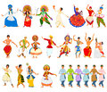 Men performing classical and folk dance of India Royalty Free Stock Photo