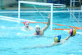 Men play water polo Stock Photos