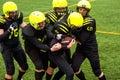 Men playing american football Royalty Free Stock Photo