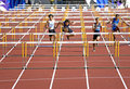 Men's 110 Meters Hurdles Royalty Free Stock Photo