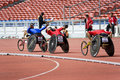 Men's 800 Meters Wheelchair Race Stock Photo