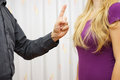 Men s aggression toward women verbal aggression Royalty Free Stock Photo