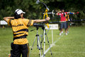 Men's Archery Action Royalty Free Stock Photo