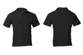 Men s blank black polo shirt template front and back design Royalty Free Stock Photos