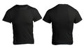 Men's Blank Black Shirt Template Royalty Free Stock Photo