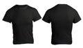 Men's Blank Black Shirt Template Royalty Free Stock Photo