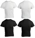Men s blank black and white shirt template front back design Stock Images