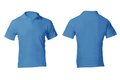 Men s blank blue polo shirt template front and back design Stock Image