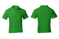 Men s blank green polo shirt template front and back design Stock Photos
