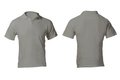 Men s blank grey polo shirt template front and back design Royalty Free Stock Images