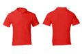 Men s blank red polo shirt template front and back design Royalty Free Stock Photo