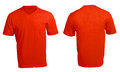 Men s blank red v neck shirt template front and back design Stock Images