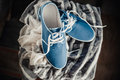 Men's blue loafers, masculine style