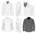 Men's button down shirt long sleeve Royalty Free Stock Photo