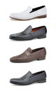 Men's casual shoes on white. Stock Photography