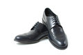 Men s classic shoes leather fashion Royalty Free Stock Photography