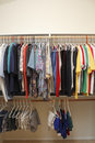 Men's Clothes in a Closet Royalty Free Stock Photo