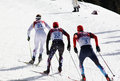 Men s cross country km mass start sochi russia february soedergren swe hoffman usa and legkov rus during competition at sochi xxii Stock Image