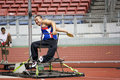 Men's Discus Throw for Disabled Persons Royalty Free Stock Photos