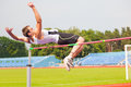 Men's high jump Royalty Free Stock Photo