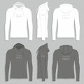 Men`s hoodie design template