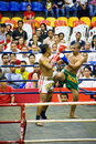 Men's Kick Boxing Action Stock Photos