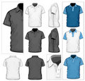 Men's polo-shirt design template Stock Photo