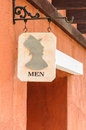 Men's public toilet sign Stock Image