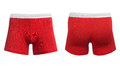 Men`s red boxer briefs Royalty Free Stock Photo