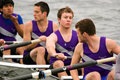 Men's Rowing Team Waits Stock Photography
