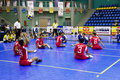 Men's Sitting Volleyball for Disabled Persons Stock Image