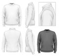 Men s sweater design template photo realistic vector illustration front view back view side views illustration contains gradient Stock Images