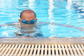 Men s swimming bald man are Stock Photos