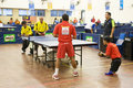 Men's Table Tennis for Disabled Persons Royalty Free Stock Image
