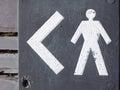 Men's toilet sign. Royalty Free Stock Photos