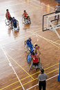Men's Wheelchair Basketball Action Stock Images
