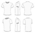 Men's white short sleeve t-shirt. Royalty Free Stock Image