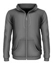 Men`s zip-up hoodie