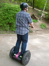 Men on segway Stock Image