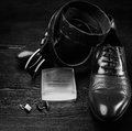Men shoes and belt Royalty Free Stock Photo
