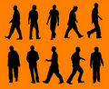 Men -silhouettes Royalty Free Stock Photography