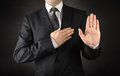Men in suits taking oath Royalty Free Stock Photo
