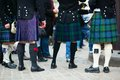 Men traditional kilts outdoors Royalty Free Stock Photos