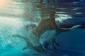 Men under water